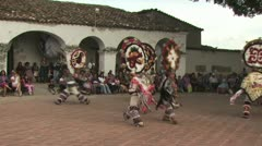 Indigenous Dancers Participate In a Religious Ceremony 2 Stock Footage