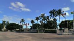 Torch of Friendship monument area at Bayfront park in Miami Stock Footage