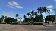 Stock Video Footage of Torch of Friendship monument area at Bayfront park in Miami
