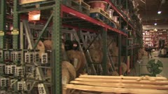 In Motion View of Warehouse Inventory 8 Stock Footage