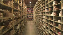 In Motion View of Warehouse Inventory 6 Stock Footage