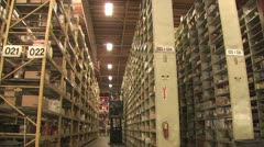 View of Warehouse Inventory Stock Footage