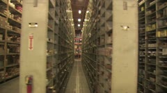 In Motion View of Warehouse Inventory Stock Footage