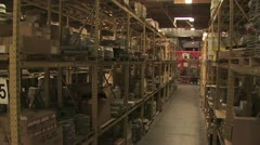 In Motion View of Warehouse Inventory 2 Stock Footage