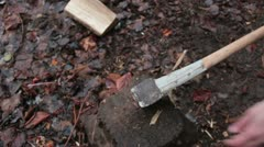 Wood chopping _3 Stock Footage