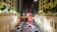 Stock Video Footage of Traffic from the Amwaj Bridge HD Timelapse