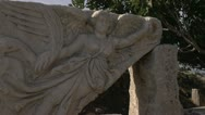 Stock Video Footage of Ephesus ruins, goddess Nike, wide