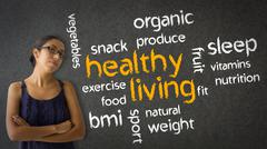 healthy living - stock illustration