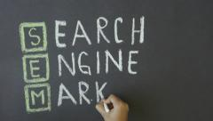 Search Engine Marketing Stock Footage