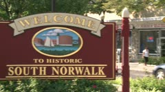 Welcome to South Norwalk (1 of 3) Stock Footage