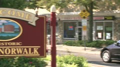 Welcome to South Norwalk (3 of 3) Stock Footage