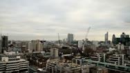 London skyline cranes construction Stock Footage