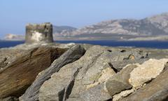 Stock Photo of stones and tower