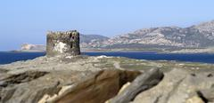 aragonese tower - stock photo