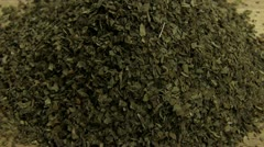 Dried basil Stock Footage