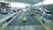 Stock Video Footage of Airport Departure Drop Off Time Lapse