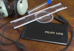 Pilot log Stock Photos