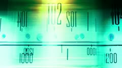 Glowing vintage radio dial Stock Footage