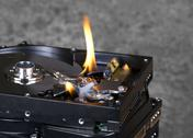 Stock Photo of burning hard disks