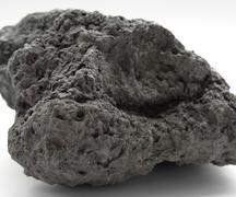 lava pebble closeup - stock photo