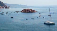 Seashore of Tossa de Mar Catalonia Stock Footage