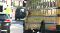 School buses on route (5 of 6) Stock Footage