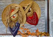 Autumn hats Stock Photos