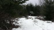 Jeep Off-road in Snow Stock Footage