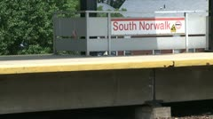 South Norwalk Train Station (1 of 5) Stock Footage