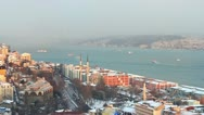 Tophane and part of Bosporus in Winter Stock Footage