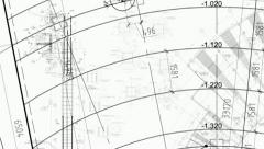 Construction drawings go in perspective. Loop - stock footage