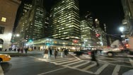 Stock Video Footage of Park Avenue New York City at night time lapse fast time-lapse cars