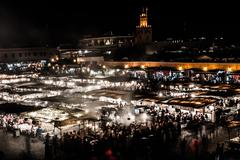 The jema el fna square in marrakesh, morocco Stock Photos