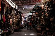 Stock Photo of the souks, marrakesh, morocco