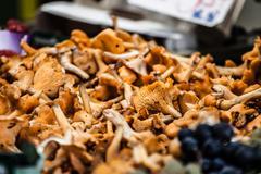 Mushrooms in local market in paris Stock Photos
