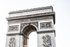 Arch of triumph on the charles de gaulle square. paris, france Stock Photos