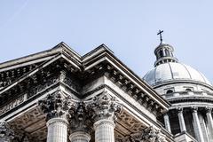 pantheon in paris in france - stock photo