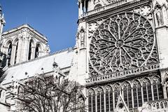 cathedral notre dame de paris, france, europe - stock photo