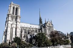 Cathedral notre dame de paris, france, europe Stock Photos
