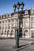 Parisian architecture in autumn time Stock Photos