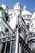 sacre coeur, montmartre, paris, france - stock photo