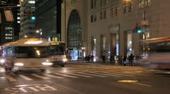 New York City Manhattan midtown time lapse crowd walking fast timelapse - stock footage