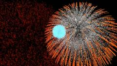 Fireworks background Stock Footage