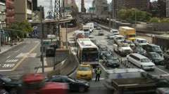 4K New York City Queensboro Bridge Traffic Timelapse 5 Stock Footage