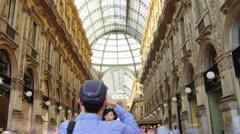 The Galleria Vittorio Emanuele in Milan, Italy. Stock Footage