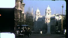 Whitehall LONDON Street Cenotaph Palace 1970s Vintage Film Home Movie 4289 - stock footage