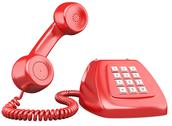 3d red old fashioned style telephone Stock Illustration