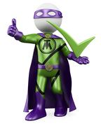 3d superhero - tick man Stock Illustration