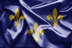 flag of ile-de-france - stock illustration