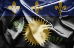 flag of guadeloupe - stock illustration
